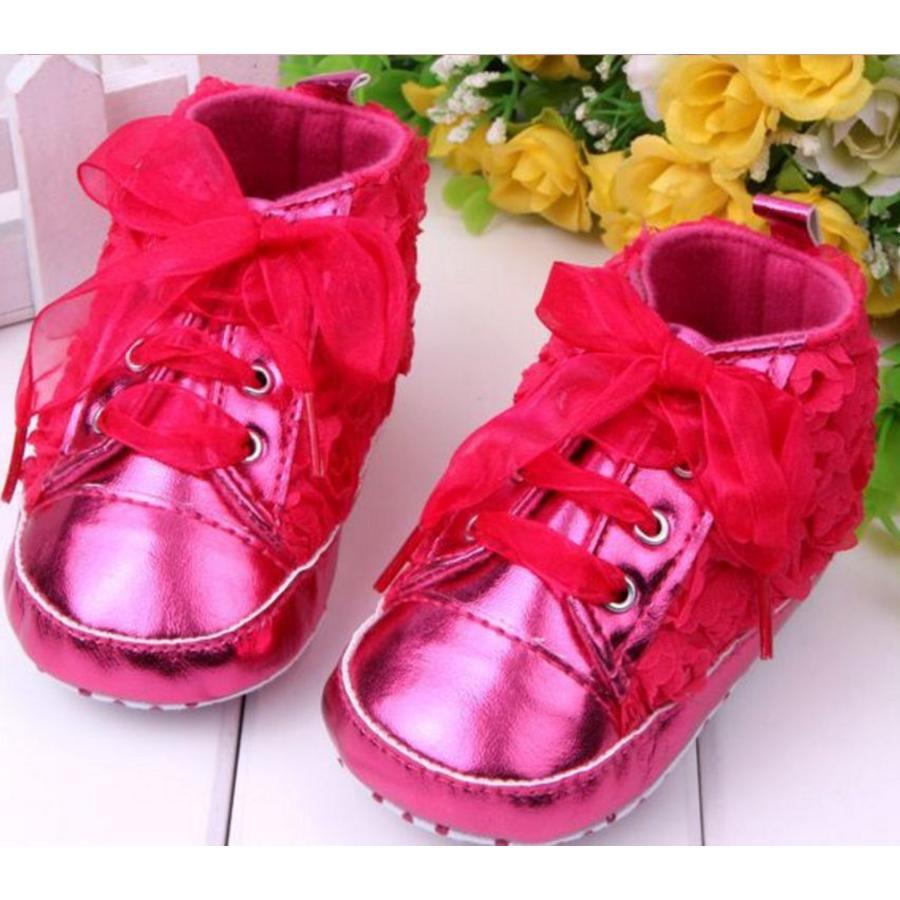 Roze Sneakers met Bloemetjes - 015-2