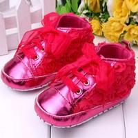 thumb-Roze Sneakers met Bloemetjes - 015-1