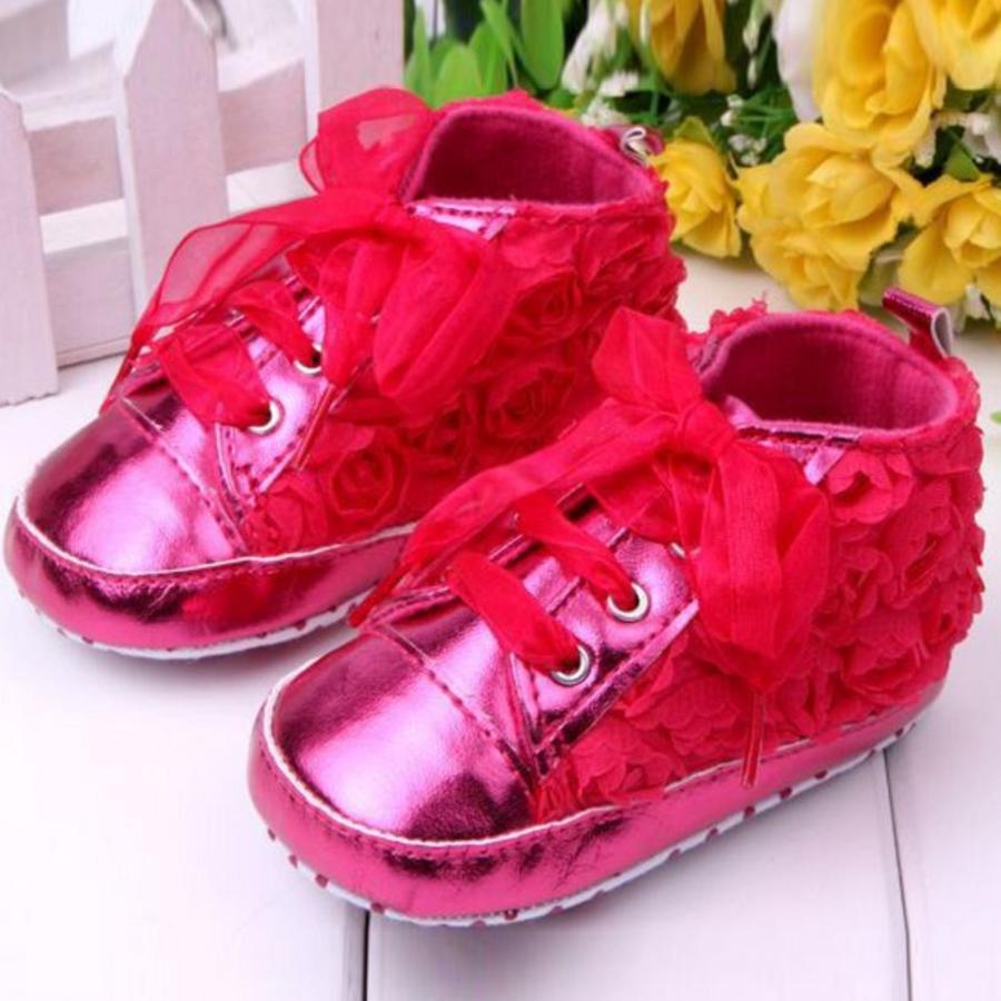 Roze Sneakers met Bloemetjes - 015-1