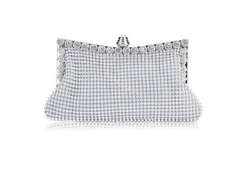 Elegante Zilverkleurig Bruidstasje - Clutch