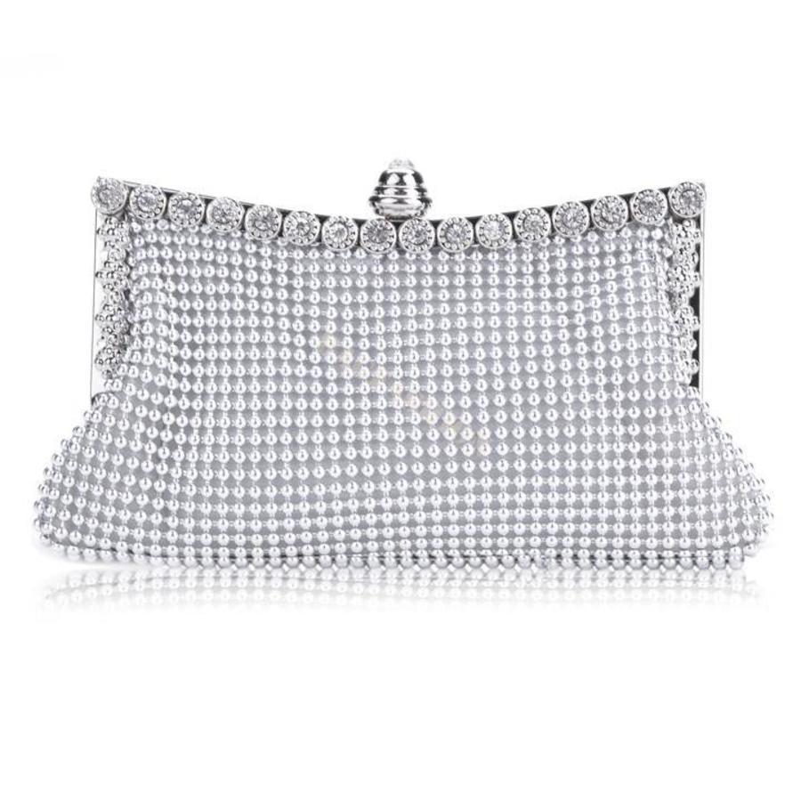 Elegante Zilverkleurig Bruidstasje - Clutch-1