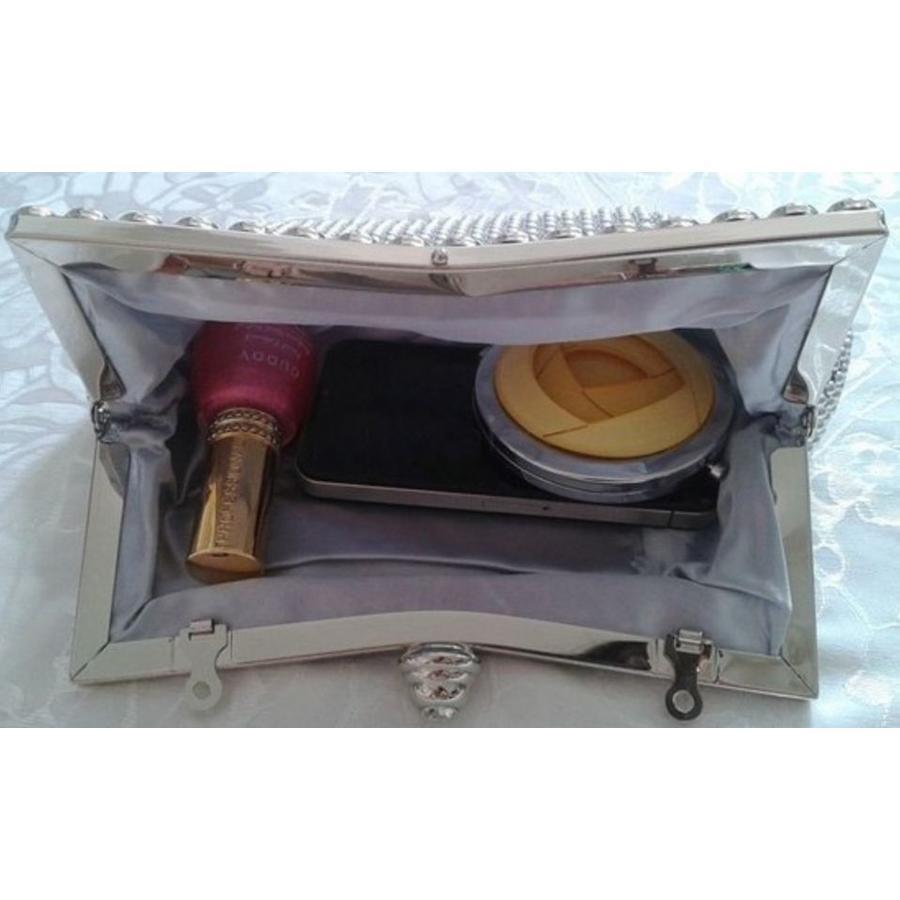 Elegante Zilverkleurig Bruidstasje - Clutch-5