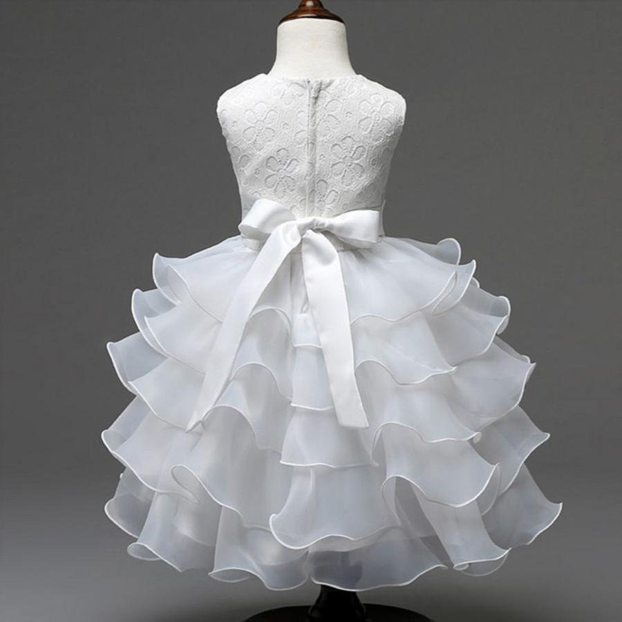Communiejurk / Bruidsmeisjesjurk - Aly - Off White - Maat 104/110-4