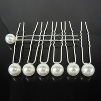 thumb-Hairpins – Ivoorkleurige Parel - 5 stuks-3