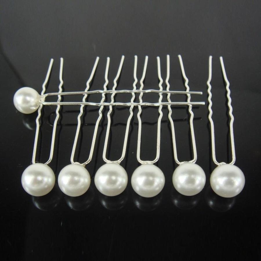 Hairpins – Ivoorkleurige Parel - 5 stuks-3