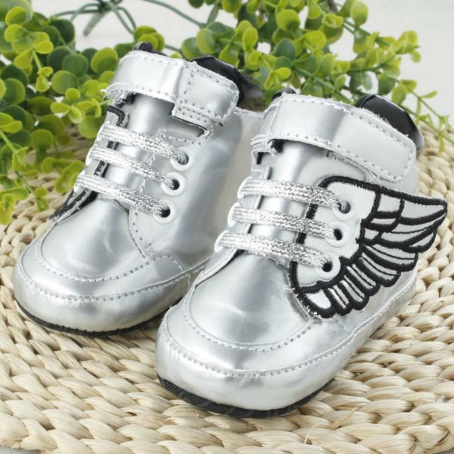 Sneakers met Vleugels - Zilver-1