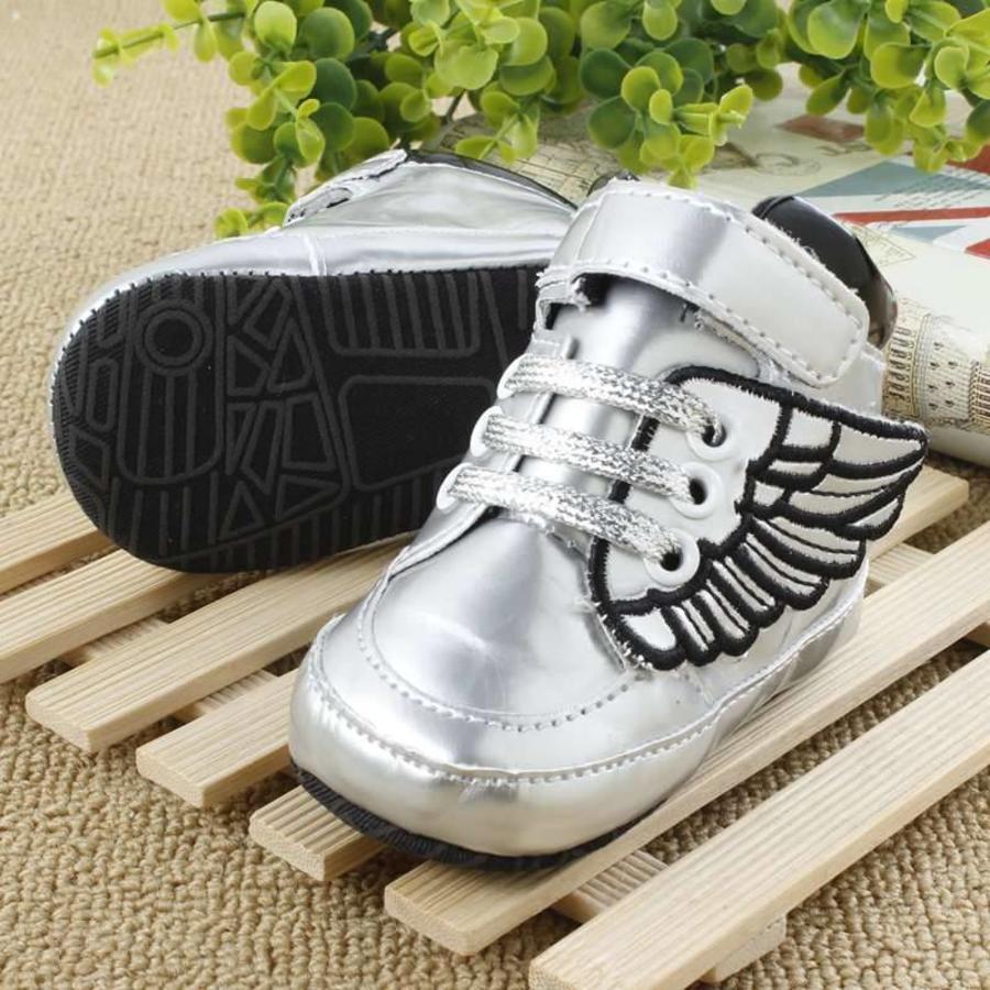 Sneakers met Vleugels - Zilver-2