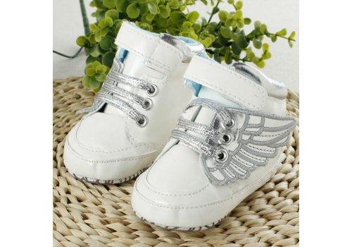 Sneakers met Vleugels - Wit - 0 tot 6 maanden