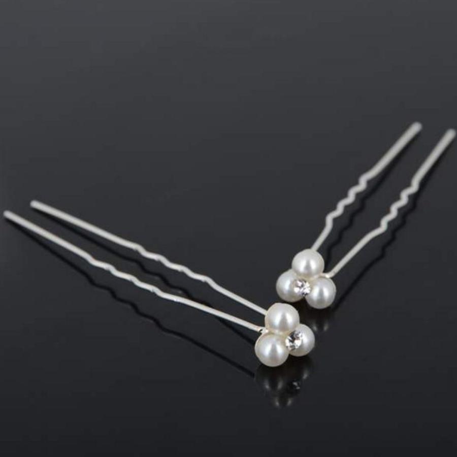 Hairpins – Pareltjes met 'Diamantje' - 5 stuks-2