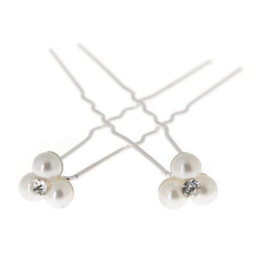 Hairpins – Pareltjes met 'Diamantje' - 5 stuks-6