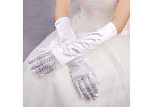 SALE - Chique Witte Bruidshandschoenen