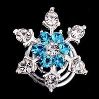thumb-Curlies Crystal & Aqua - 6 stuks-1