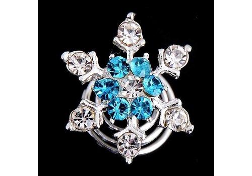 Curlies Crystal & Aqua - 6 stuks