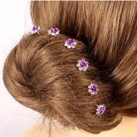 thumb-Hairpins – Paars Roosje - 5 stuks-1