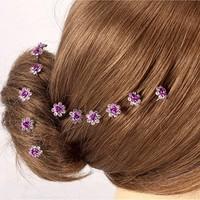 thumb-Hairpins – Paars Roosje - 5 stuks-5