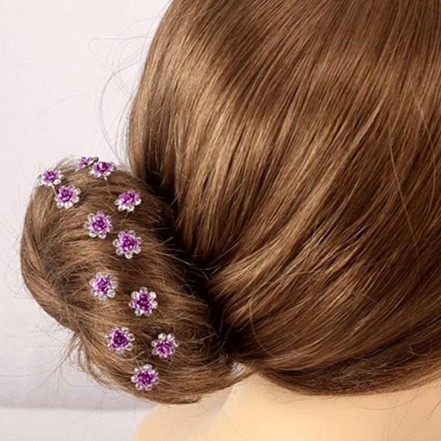 Hairpins – Paars Roosje - 5 stuks-6