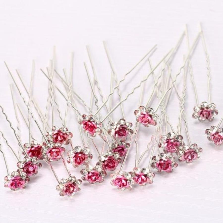 Hairpins – Roze Roosje - 5 stuks-2