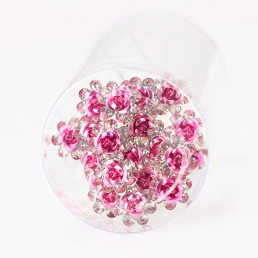 Hairpins – Roze Roosje - 5 stuks-3