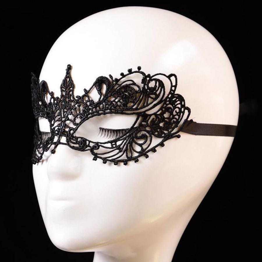 Party Masker - Zwart-2