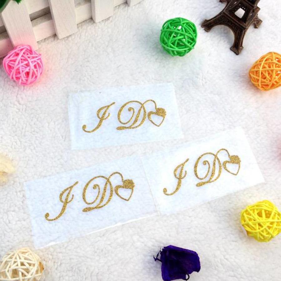 'I DO' Sticker - Goud-1