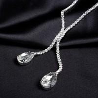 thumb-Sieraden Set met Diamanten Druppels-3