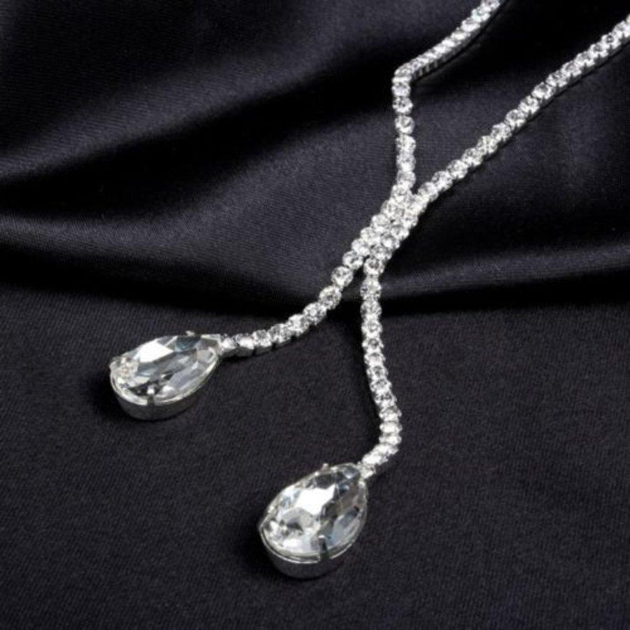 Sieraden Set met Diamanten Druppels-3