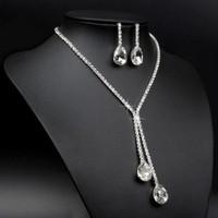 thumb-Sieraden Set met Diamanten Druppels-4