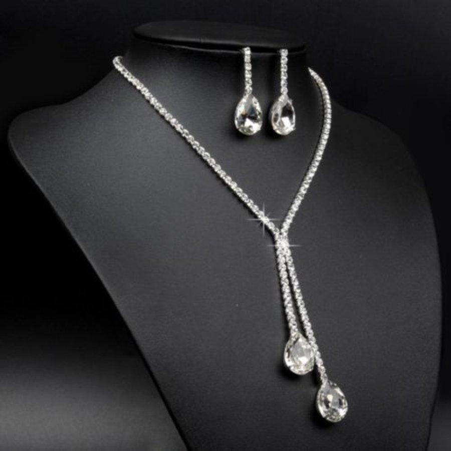 Sieraden Set met Diamanten Druppels-4