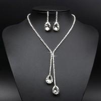 thumb-Sieraden Set met Diamanten Druppels-1