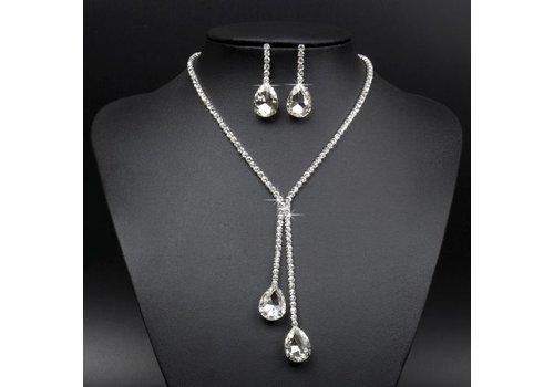 Sieraden Set met Diamanten Druppels