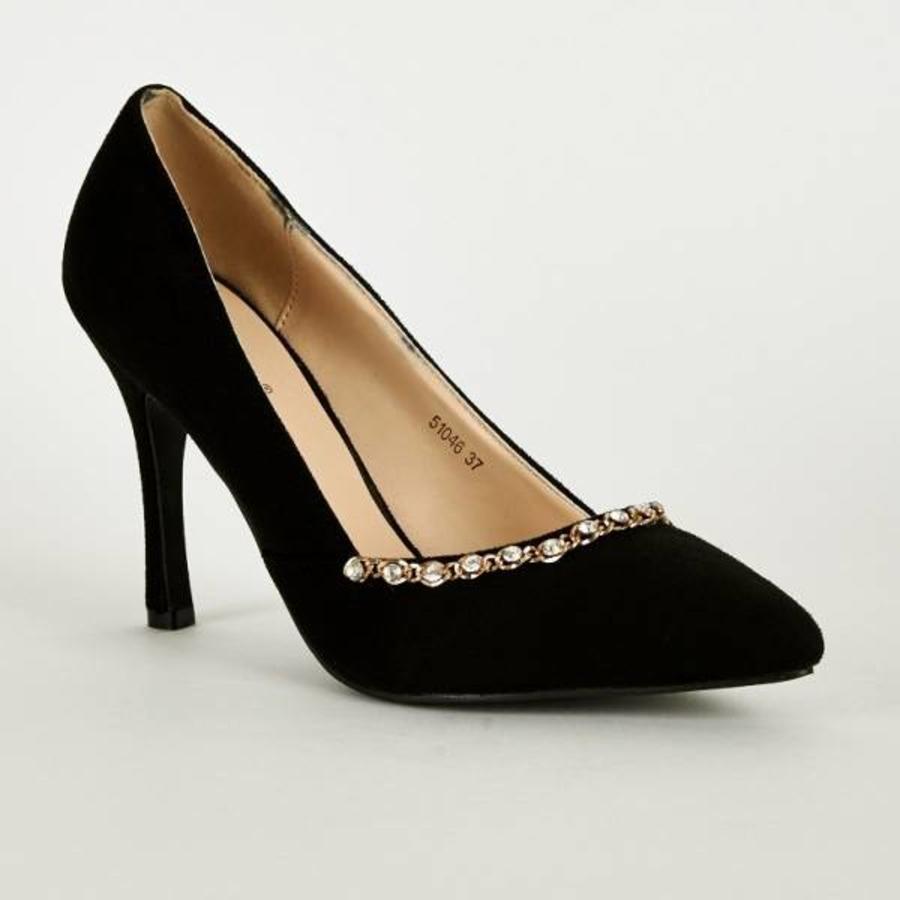SALE - Pumps - Maat 38 - High Heels - Zwart - Belle Women-1
