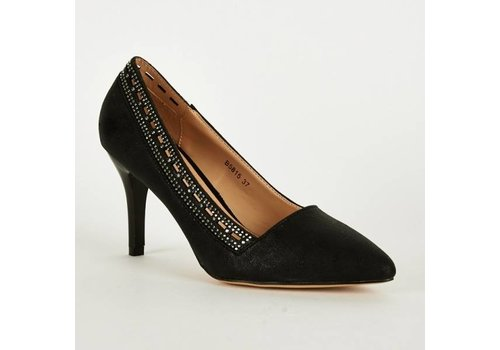 SALE - Pumps - Maat 38 - High Heels - Belle Women - Zwart