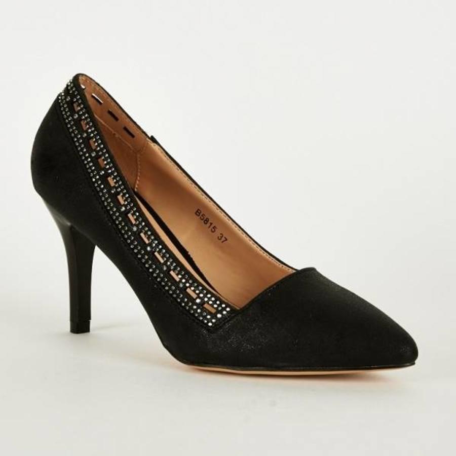 SALE - Pumps - Maat 38 - High Heels - Belle Women - Zwart-1