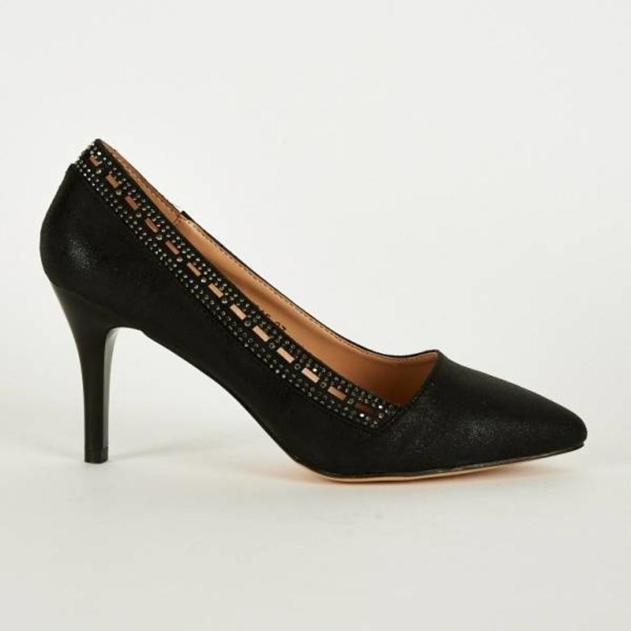 SALE - Pumps - Maat 38 - High Heels - Belle Women - Zwart-4