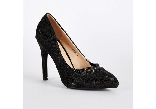 SALE - Maat 39 - Pumps - High Heels - Belle Women - Zwart