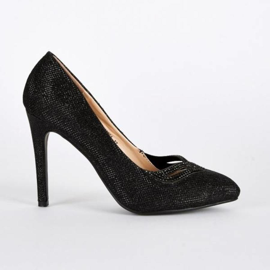 SALE - Maat 39 - Pumps - High Heels - Belle Women - Zwart-4