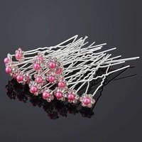 SALE - Hairpins – Bloemetje met Roze Parel - 5 stuks