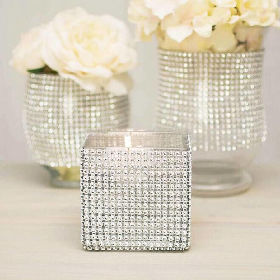 Diamanten 'Lint' - 90 cm. - Zilver -  Bruiloft Decoratie - DIY-5