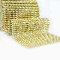 thumb-PaCaZa - Diamanten 'Lint' - 90 cm - Goud - Bruiloft Decoratie - DIY-1