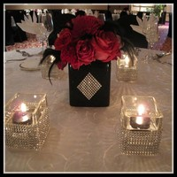 thumb-PaCaZa - Diamanten 'Lint' - 90 cm - Goud - Bruiloft Decoratie - DIY-8
