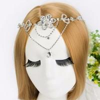thumb-Prachtig Sieraad met Kristallen Bloemen voor in je Haar-1