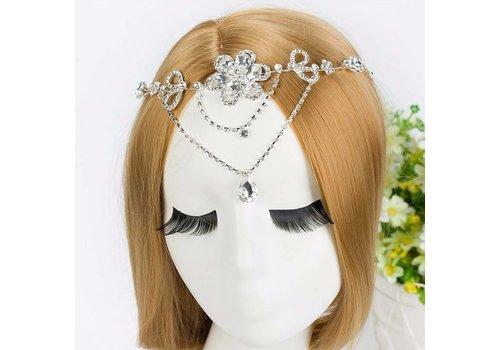 Prachtig Sieraad met Kristallen Bloemen voor in je Haar