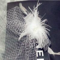 thumb-Stijlvolle birdcage veil / sluier / fascinator van french netting - Zwart-4