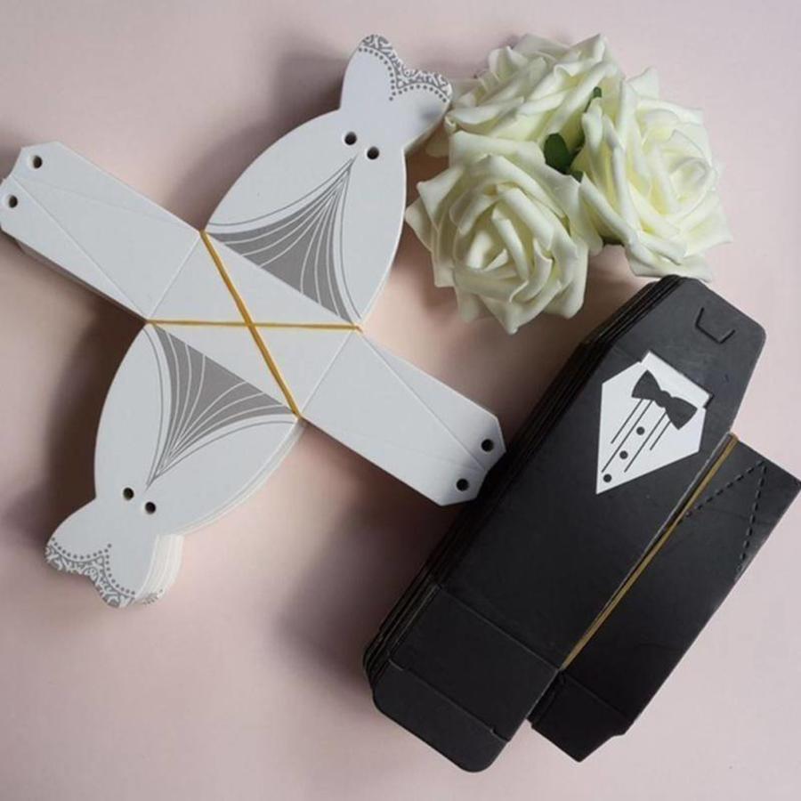 Geschenk doosjes / Cadeau doosjes - 50 stuks - Bruid & Bruidegom-4