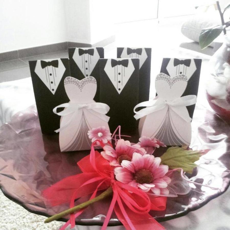 Geschenk doosjes / Cadeau doosjes - 50 stuks - Bruid & Bruidegom-2