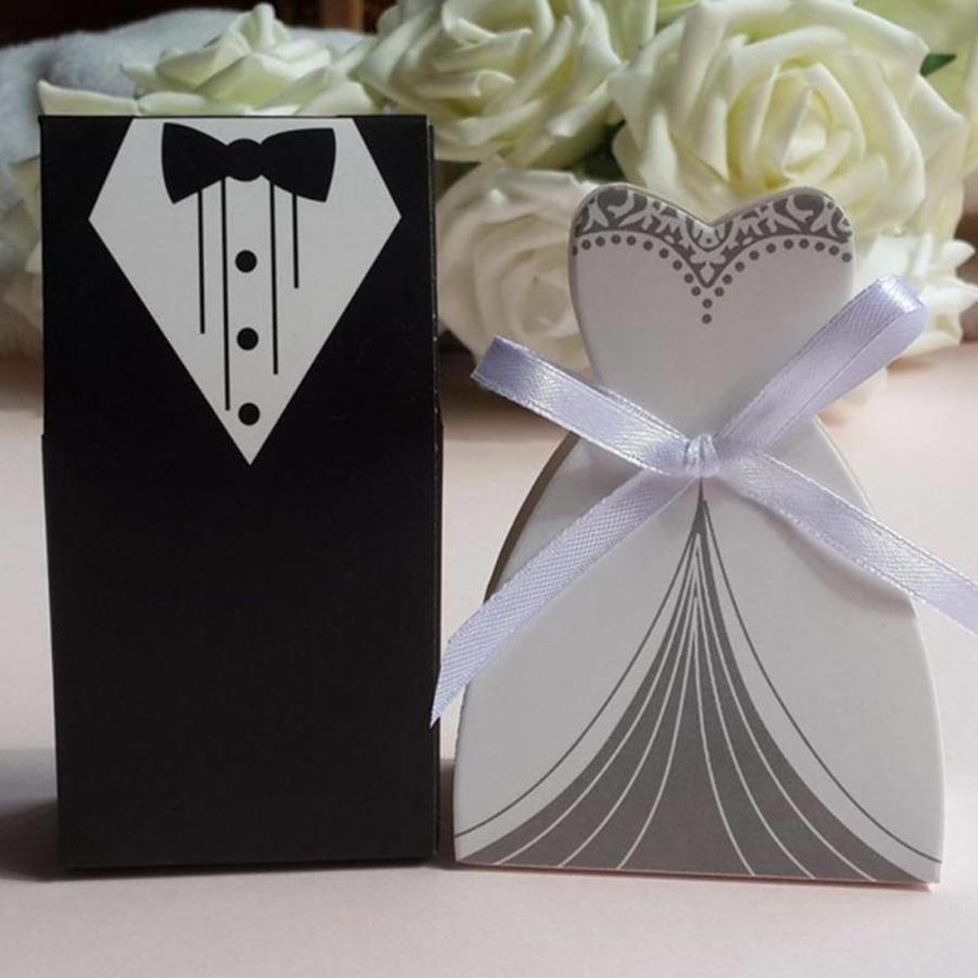 Geschenk doosjes / Cadeau doosjes - 50 stuks - Bruid & Bruidegom-6