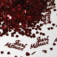 thumb-Confetti - Just Married - Rood - 350 stuks-3
