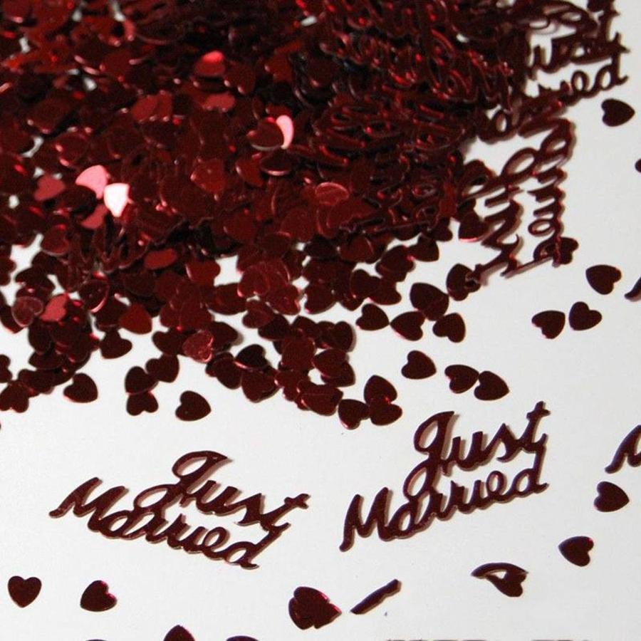 PaCaZa - Confetti - Just Married - Rood - 350 stuks-3