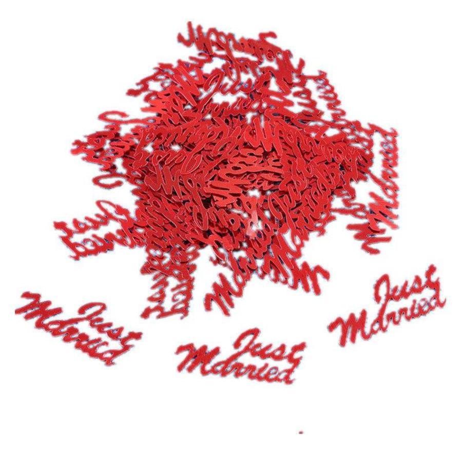 PaCaZa - Confetti - Just Married - Rood - 350 stuks-1