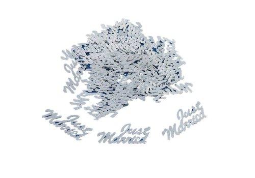 Confetti - Just Married - Zilver - 350 stuks